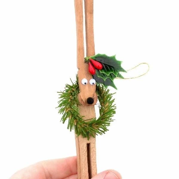 Clothespin Reindeer Ornaments Tutorial Dream A Little Bigger