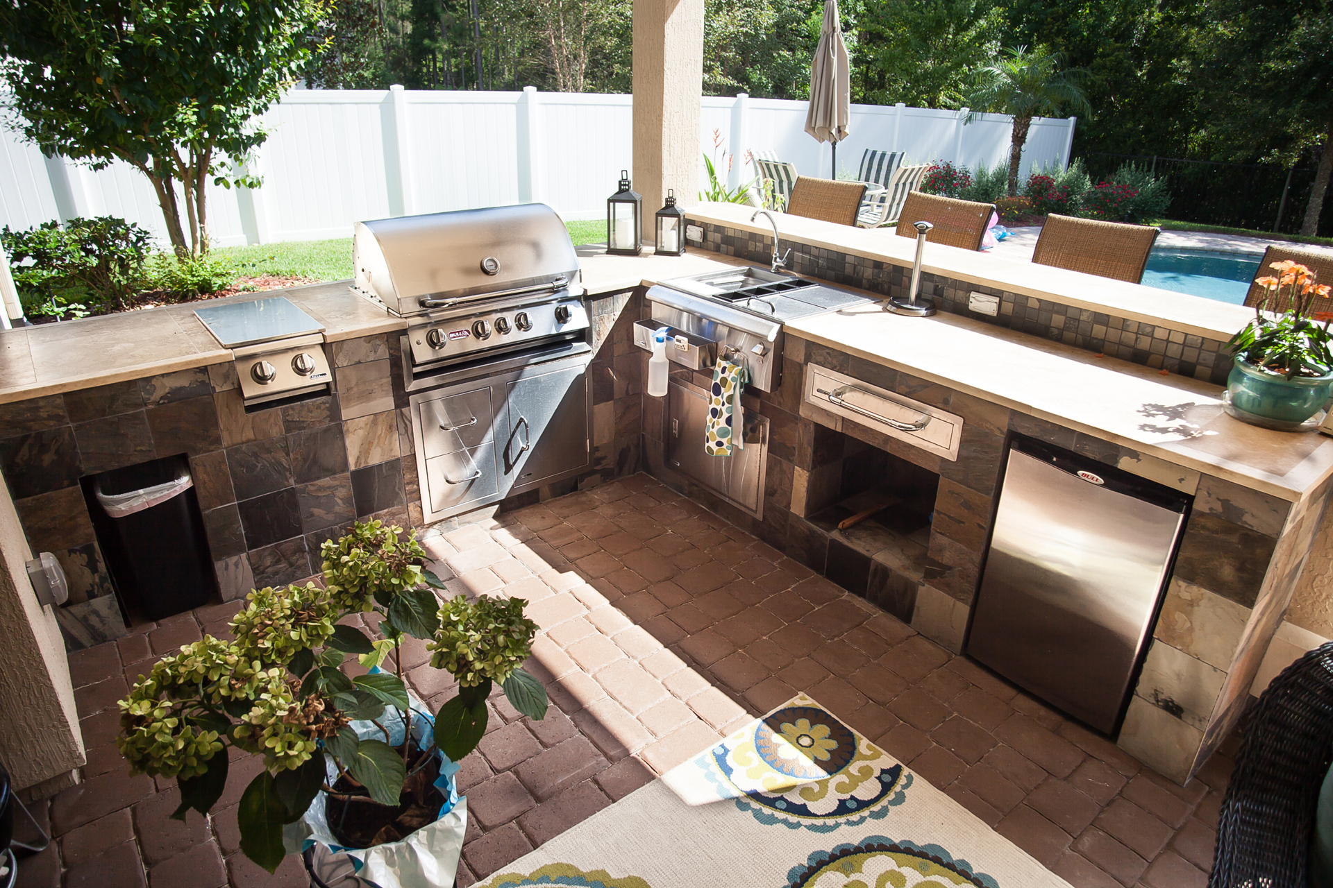 Outdoor Kitchen Installation by Florida Coastal Contractors