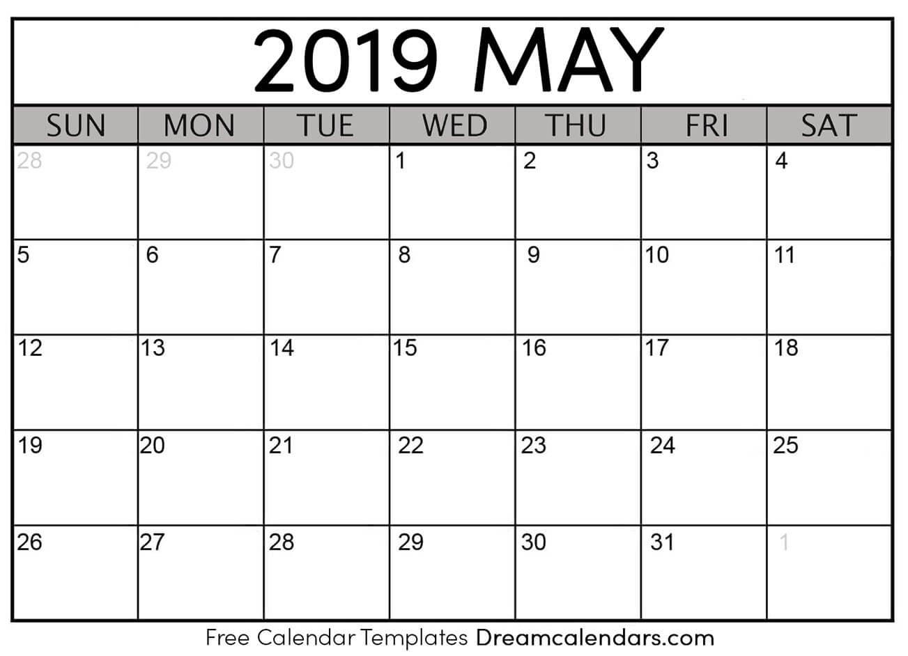 Printable Blank May Calendar On We Heart It