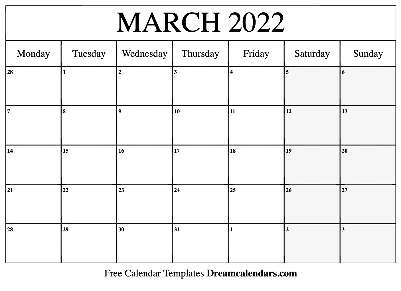 Sure, digital calendars are convenient — we can take them everyw. March 2022 calendar   free blank printable templates