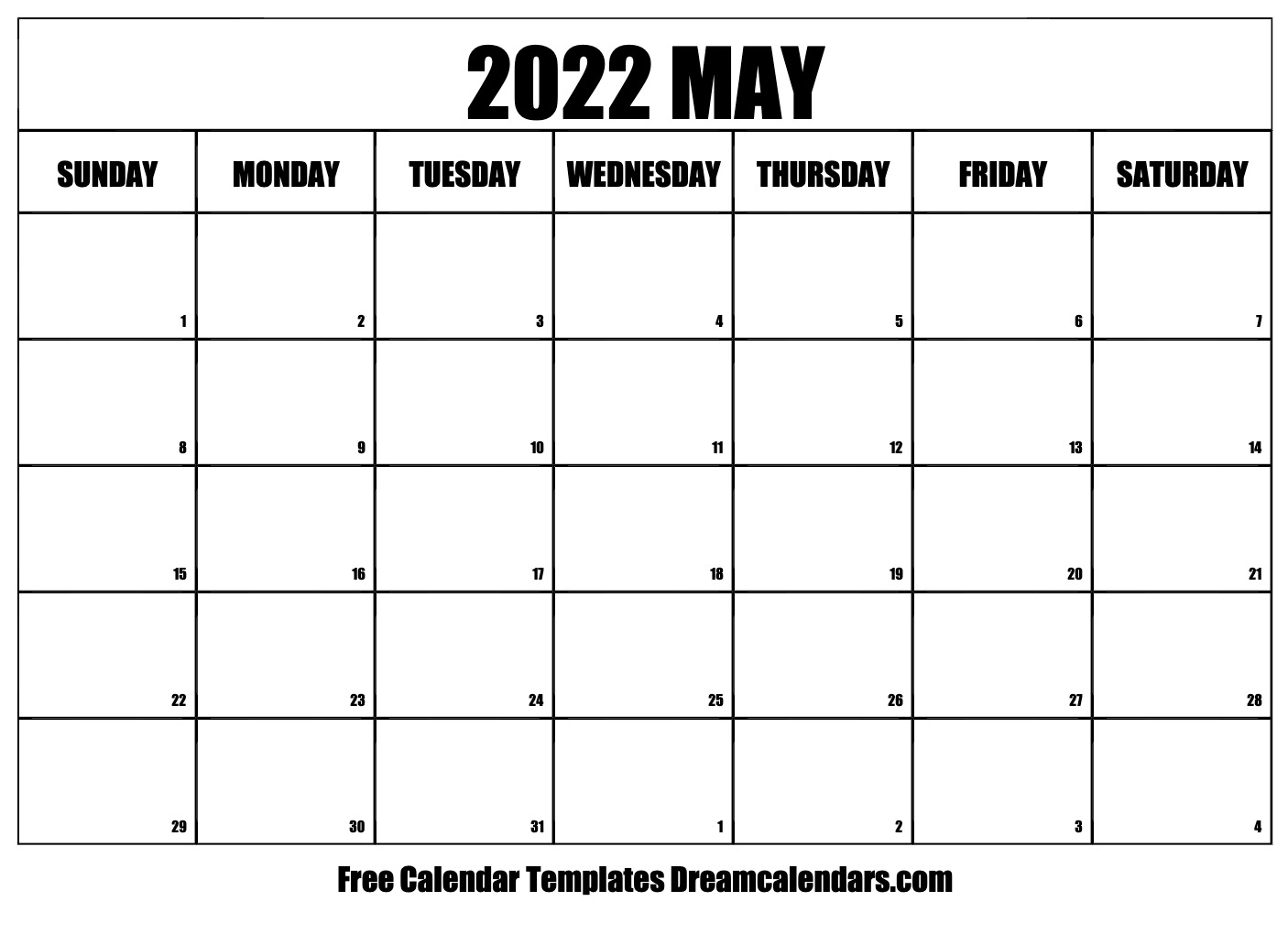 What's more, the technology is accelerating at an exponential. May 2022 calendar | free blank printable templates