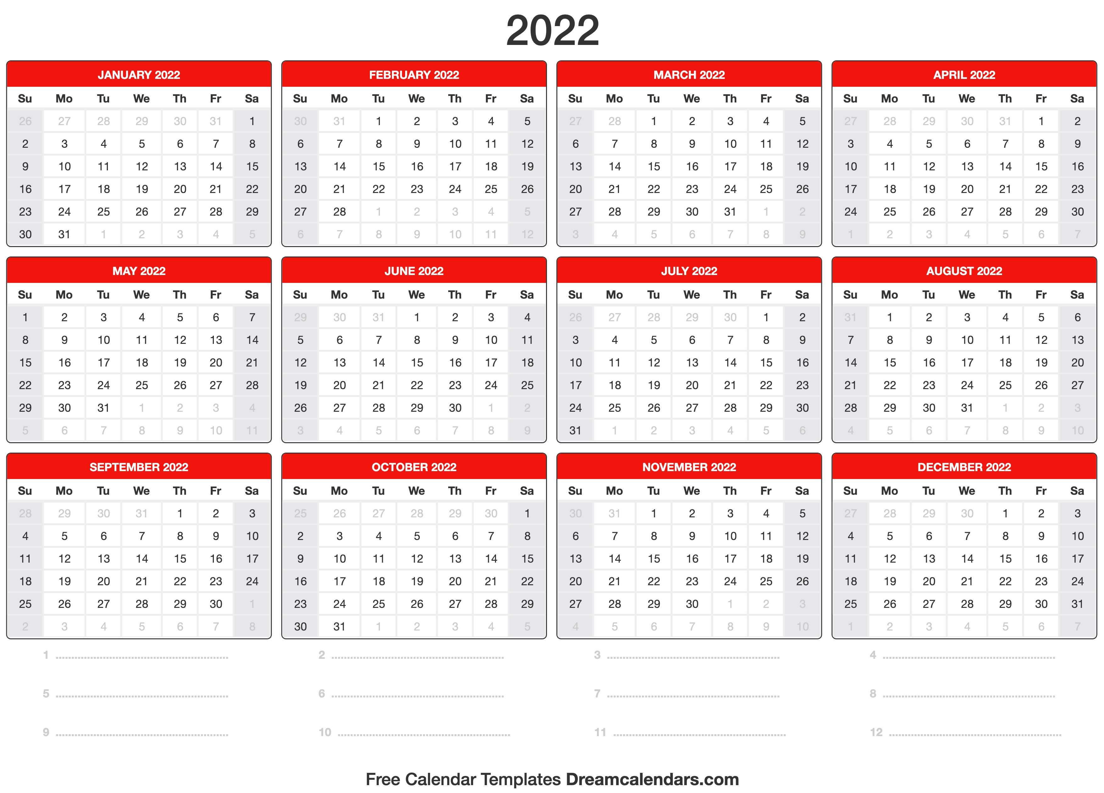 Free may 2022 calendar printable calendar of the year: 2022 Calendar