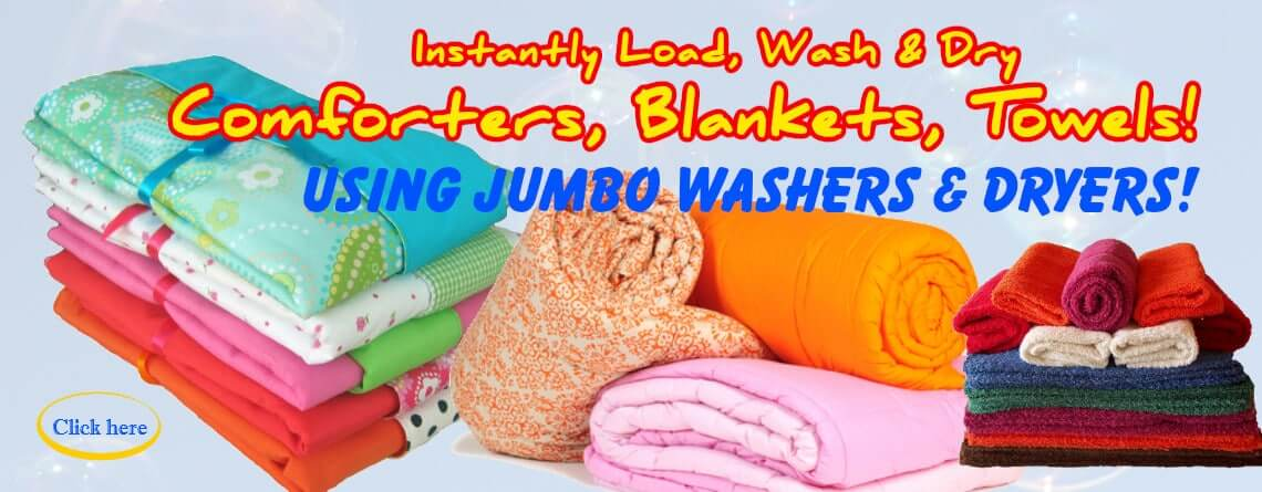 Wash Comforters, Blankets, Towels Laundry at DREAM Coin Laundry Mississauga