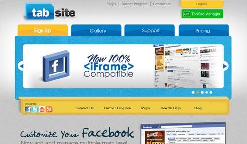 Facebook page tools TabSite