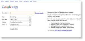 google alerts Free Social Media Monitoring Tools