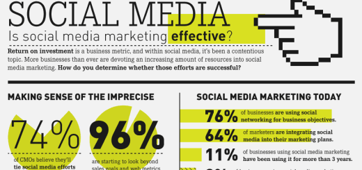 the roi of social media infographic