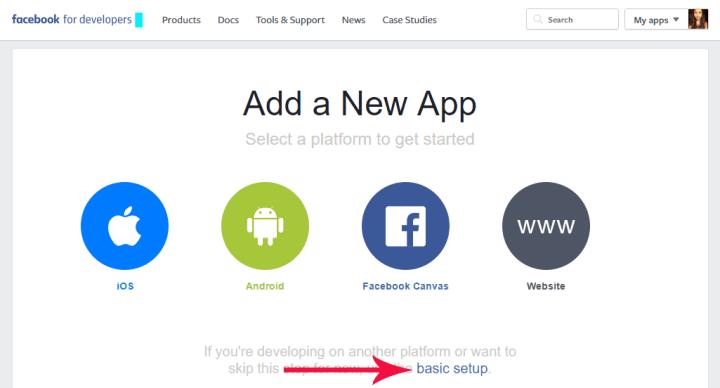 add facebook page app