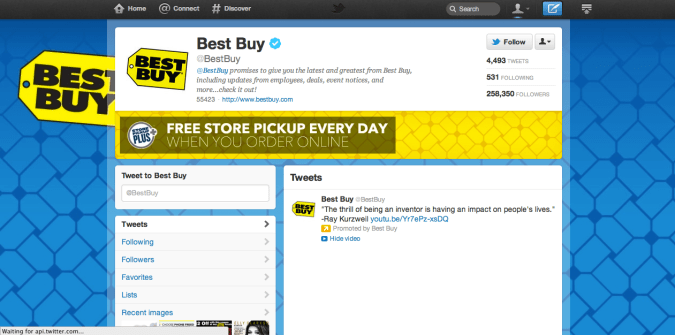 best buy twitter brand page