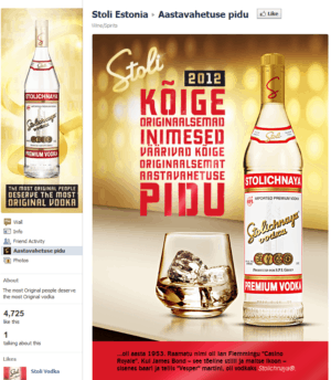 Stolichnaya facebook sweepstakes campaign
