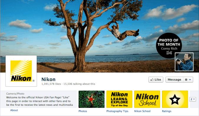 nikon facebook cover photo