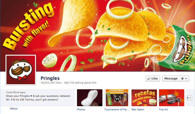 pringles facebook cover photo