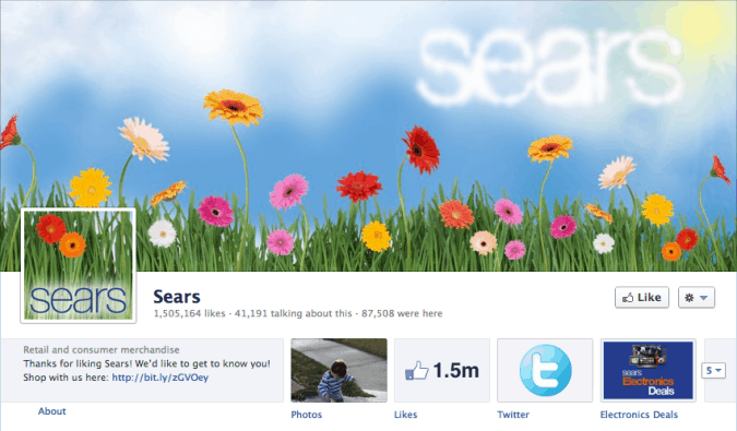 sears facebook cover photo