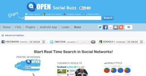 Social Searcher / Socialbuzz Free Social Media Monitoring Tools
