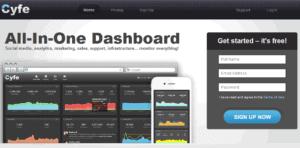 cyfe 300x148 54 medios de comunicación social gratis herramientas de monitoreo [Update2012]