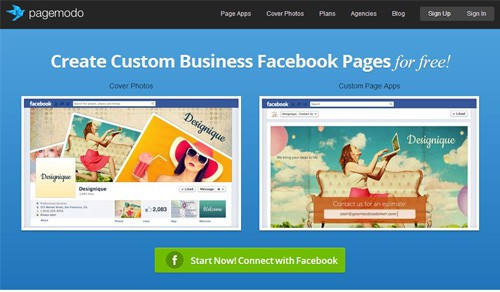 Pagemodo Free Facebook Page Creation Tools