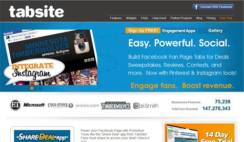 Tabsite Free Facebook Page Creation Tools