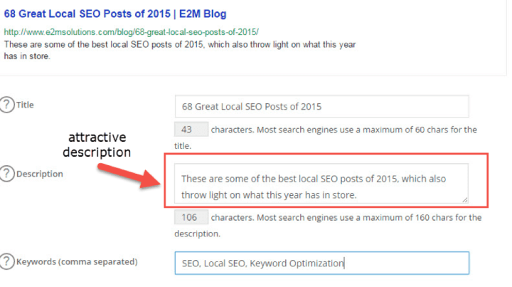 Keywords and Meta Description