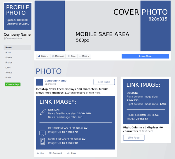Facebook Cheat Sheet: All Image Sizes, Dimensions, and ...