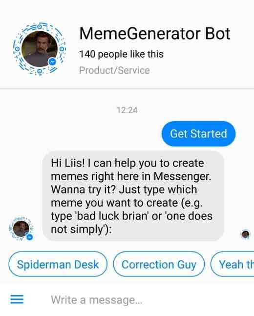 memegenerator messenger bot