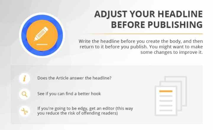 Catchy Titles headline infographic