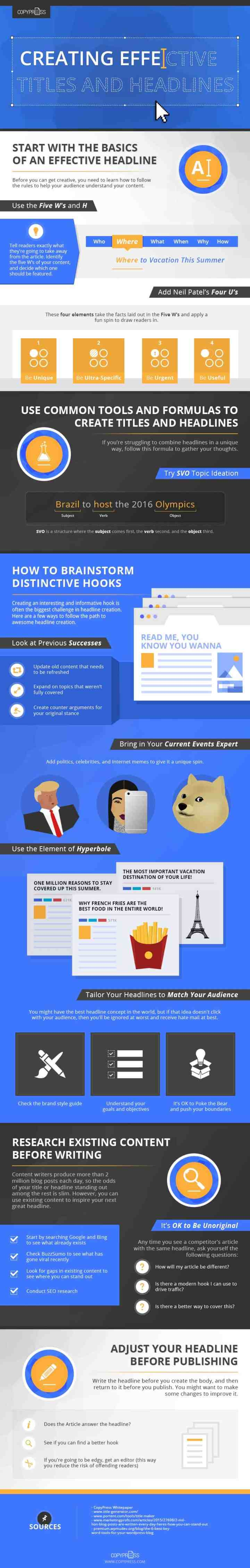 Catchy Titles effective titles infographic
