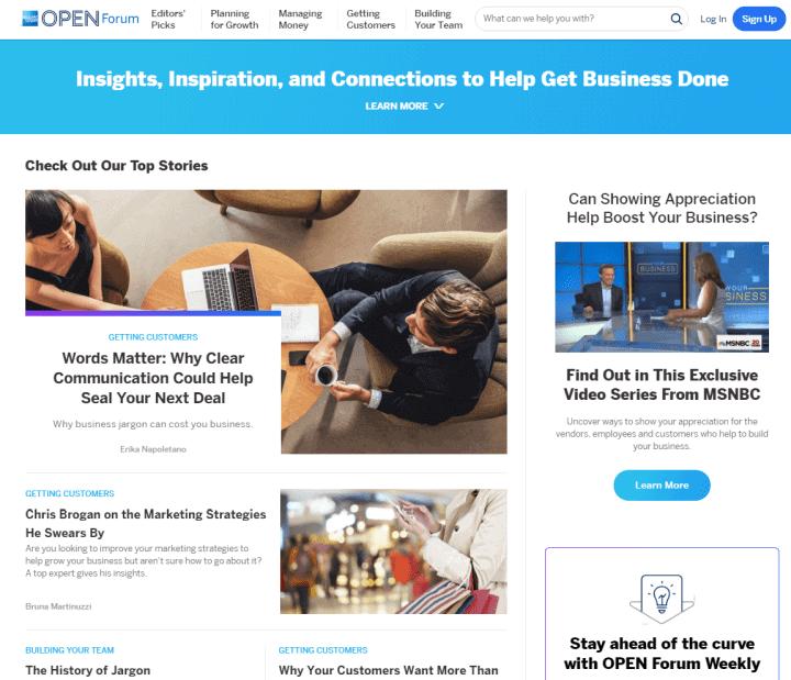 boring content marketing amex