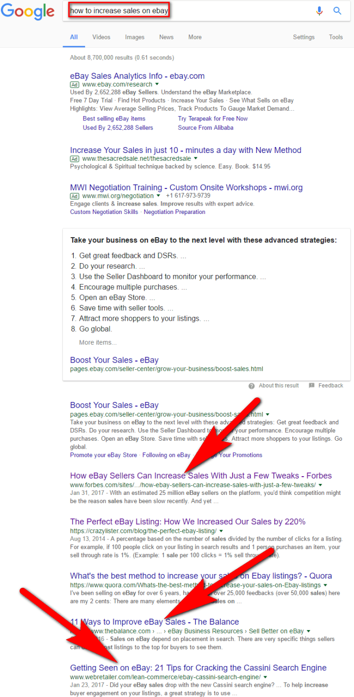 long-form content search result
