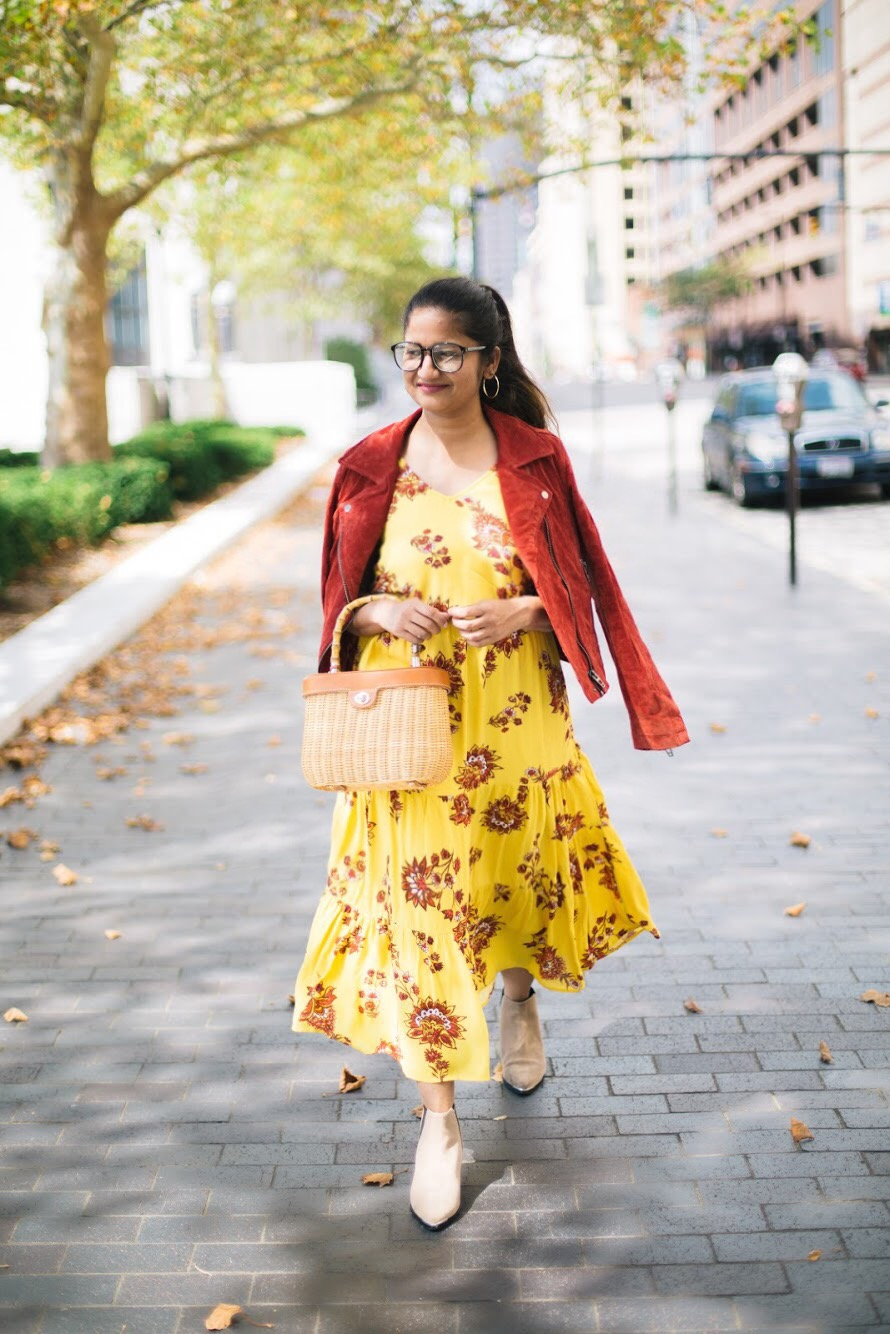 old-navy-Flutter-Sleeve-Waisted-Midi-dress