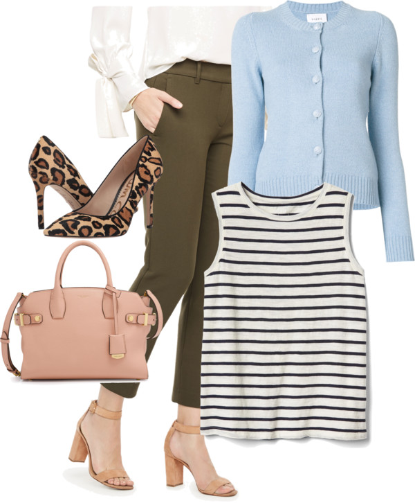 How-to-wear-light-blue-cardigan-with-olive-pants-by-dreaming-loud