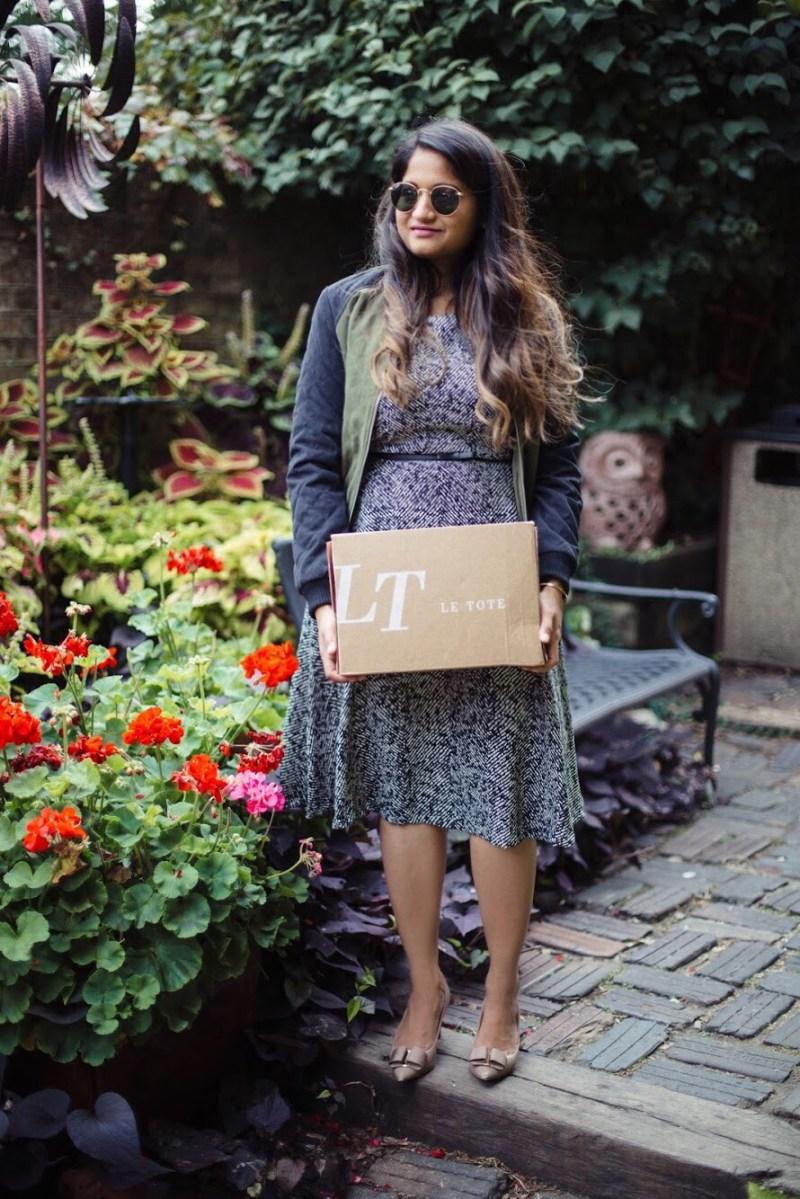 Lifestyle-Blogger-Surekha-of-dreaming-loud-wearing-Letote- PHILOSOPHY-Herringbone-Dress-1