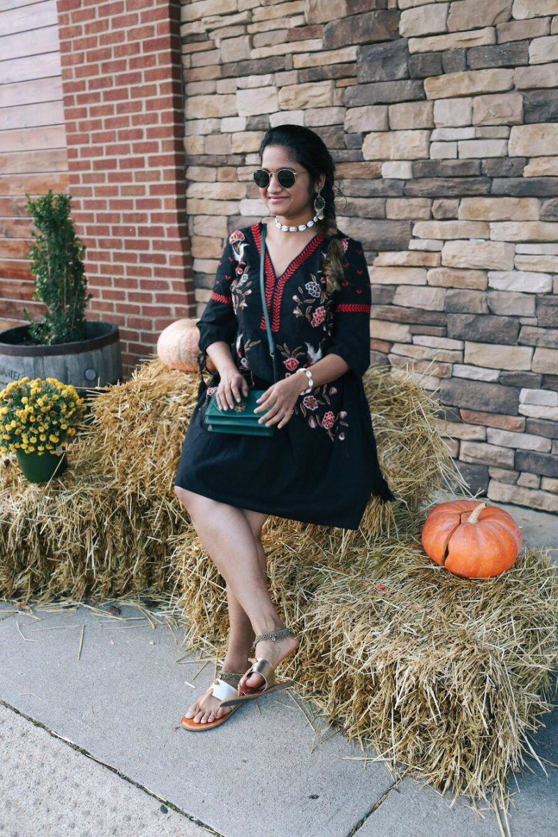 Lifestyle Blogger Surekha of Dreaming Loud Sharing indo-western Diwali outfit ideas