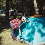 Lifestyle blogger Surekha of Dreaming Loud sharing what to bring with you for a fall camping trip
