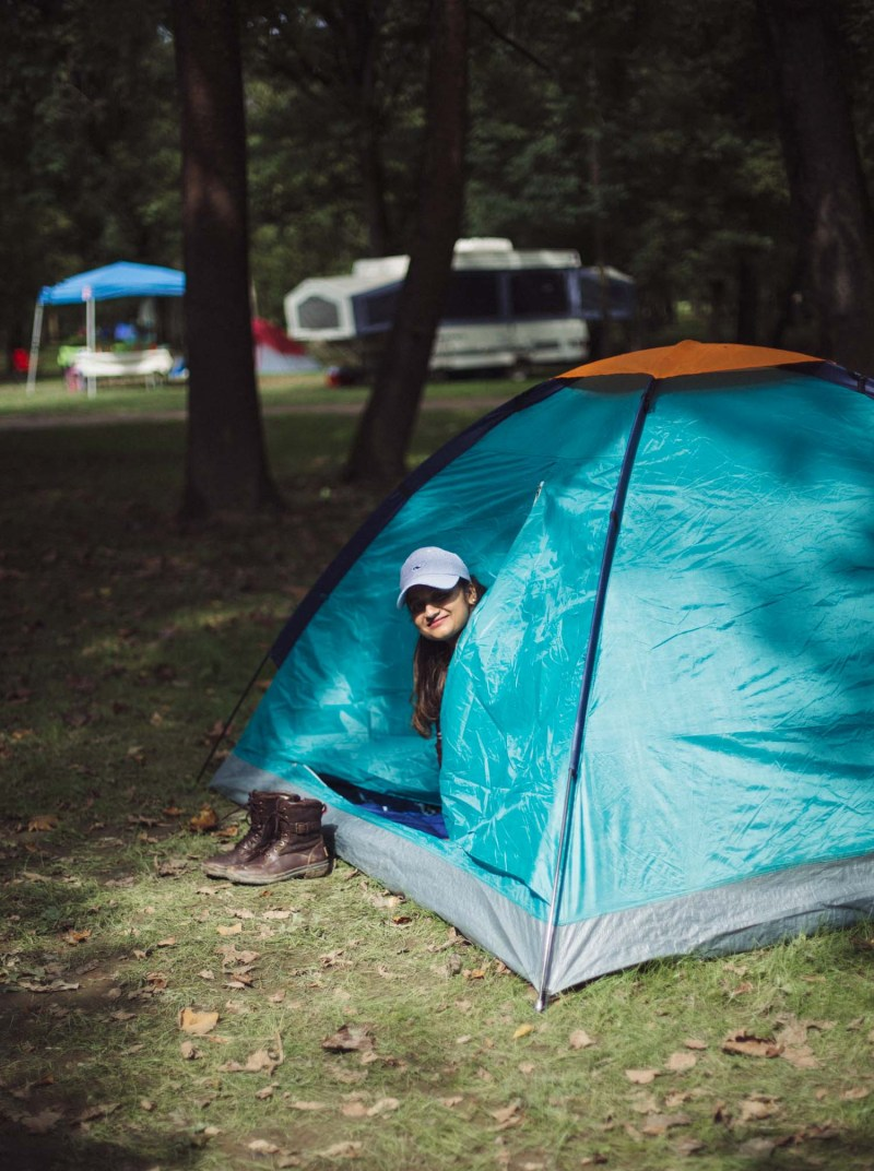 Lifestyle blogger Surekha of Dreaming Loud sharing what to expect from a first time tent camping1