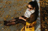 Life style blogger Surekha of Dreaming Loud wearing Boden Dorchester Suede Skirt in Saffron