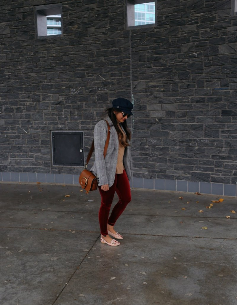 lifestyle blogger Surekha of Dreaming Loud wearing Leith High Waist Velour Stirrup Pants