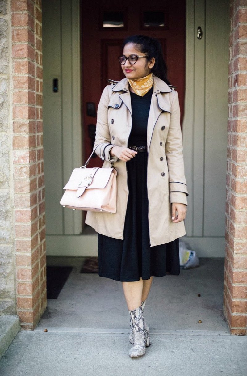 lifestyle blogger Surekha of dreaming loud wearing free people cecille snakeskin ankle boots