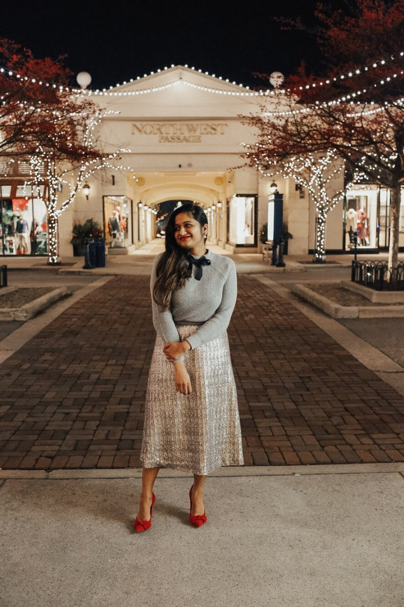 Lifestyle Blogger Surekha of Dreaming Loud Sharing Holiday Sequin Outfits