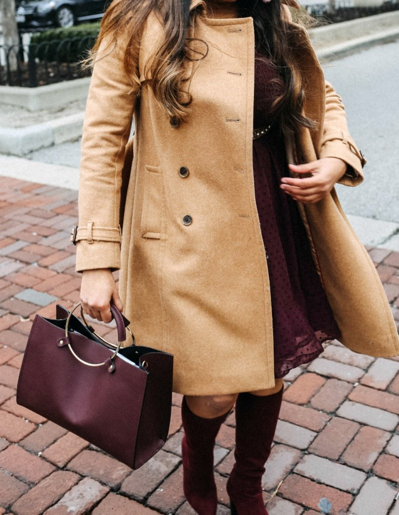 Lifestyle blogger Surekha of dreaming loud wearing J.Crew Icon trench coat in Italian wool cashmere in camel
