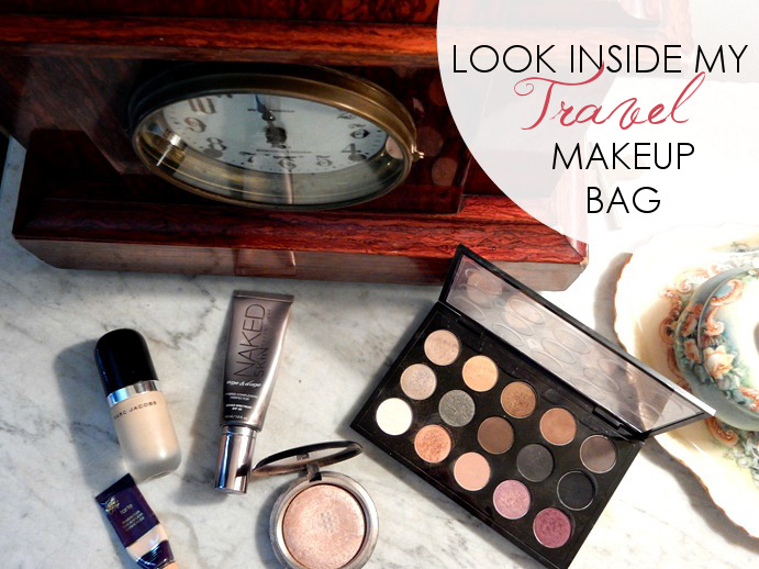 Look Inside My Travel Makeup Bag - Dream in Lace