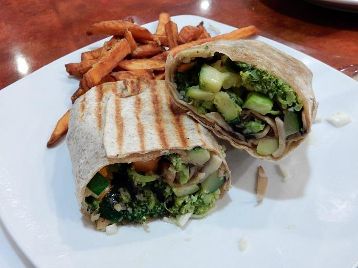 Amelia's Diner Vegan Veggie Wrap in Soho - NYC Food Diary
