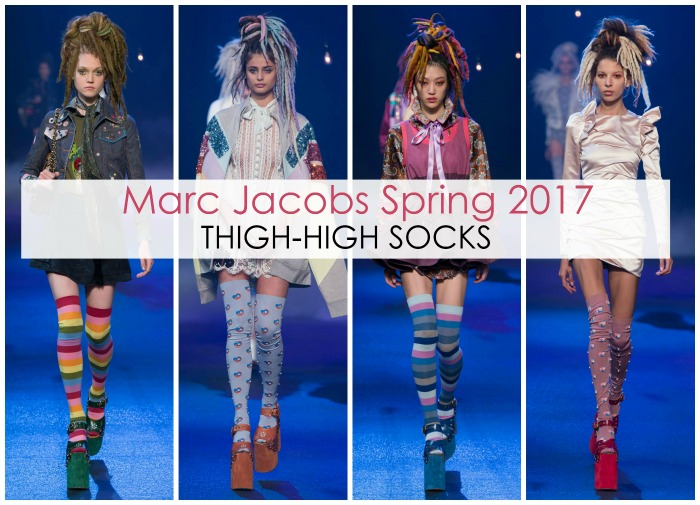 Marc Jacobs Thigh-High Socks SS17 Runway - Dream in Lace
