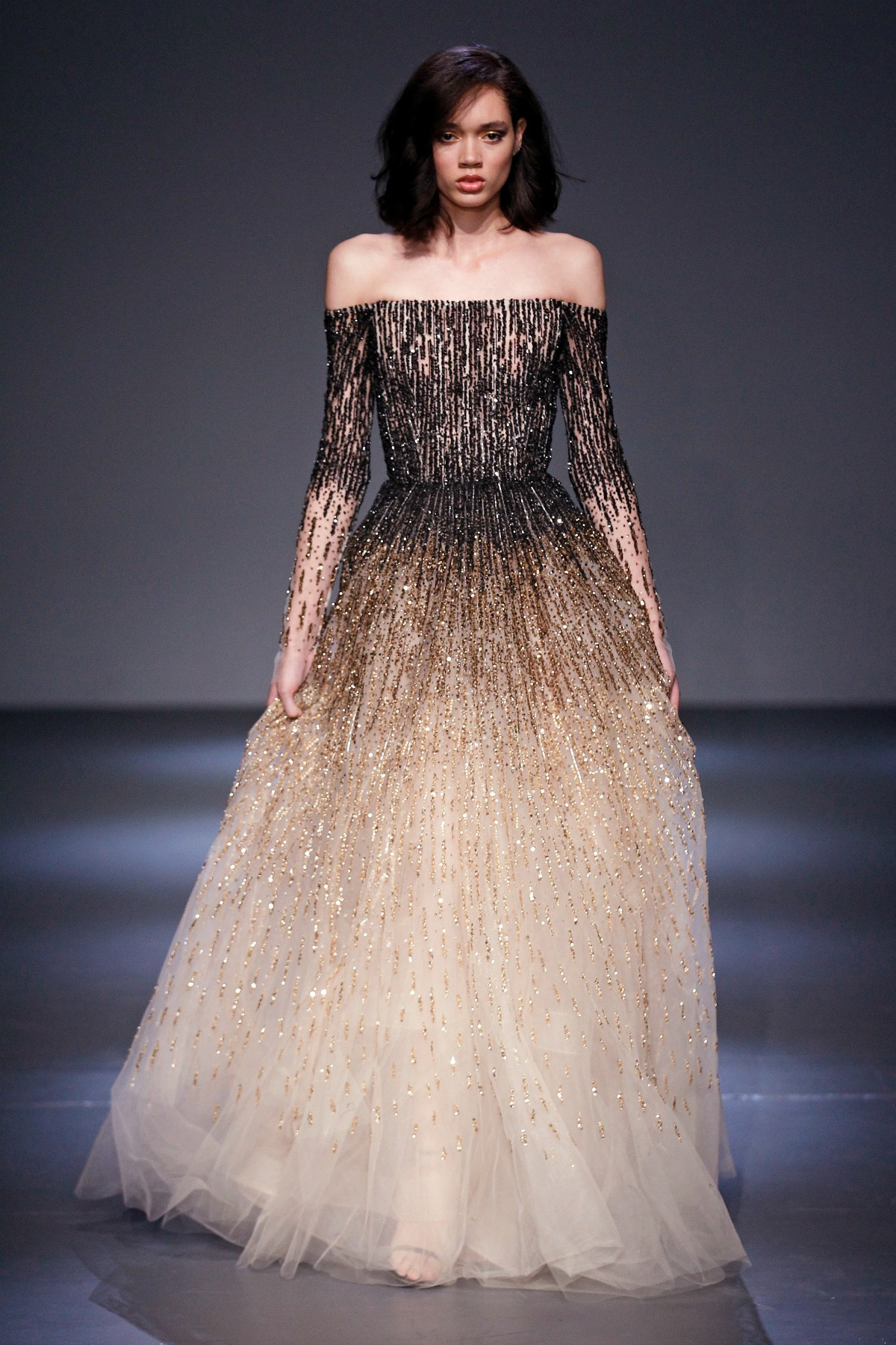 Pamella Roland Fall 2018 Runway I Crystal Ballgown #NYFW #WinterFashion