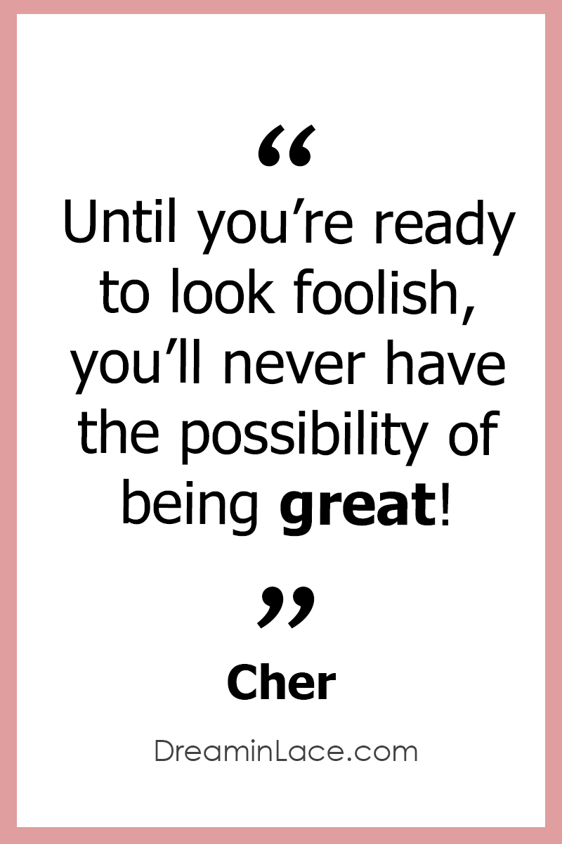 Inspiring Women's Day Quote by Cher #WomensDay #Cher #Quotes