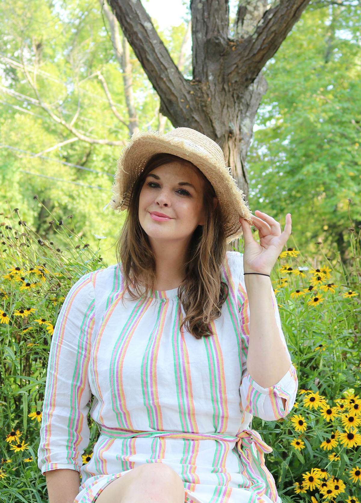 2018 Labor Day Sales I Nordstrom Summer Sundress with Straw Hat from SHEIN #Summer #Style #Summerstyle #LaborDay