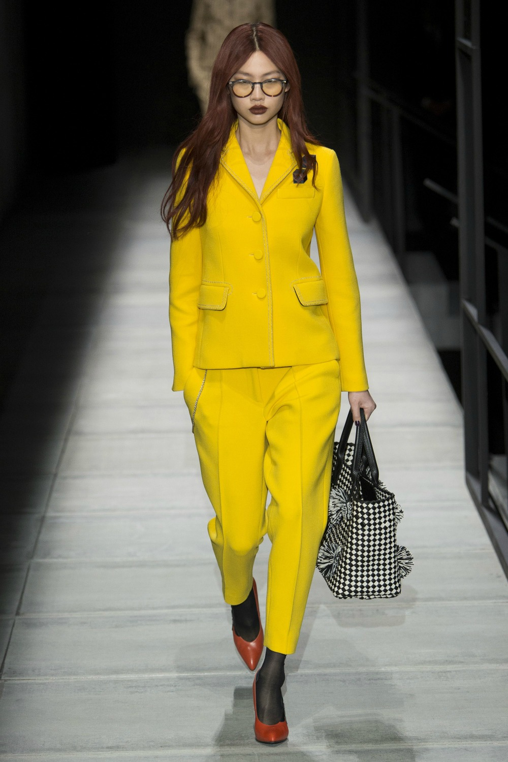 Yellow Fall Fashion Trend on the Bottega Veneta Runway at New York Fashion Week #FallFashion #FallTrends #Runway #FashionWeek #NYFW #FallStyle #FallTrends