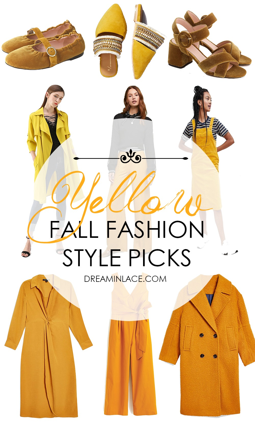 Yellow Fall Fashion Trend Style Picks for Your Wardrobe I DreaminLace.com #FallFashion #FallTrends #Style