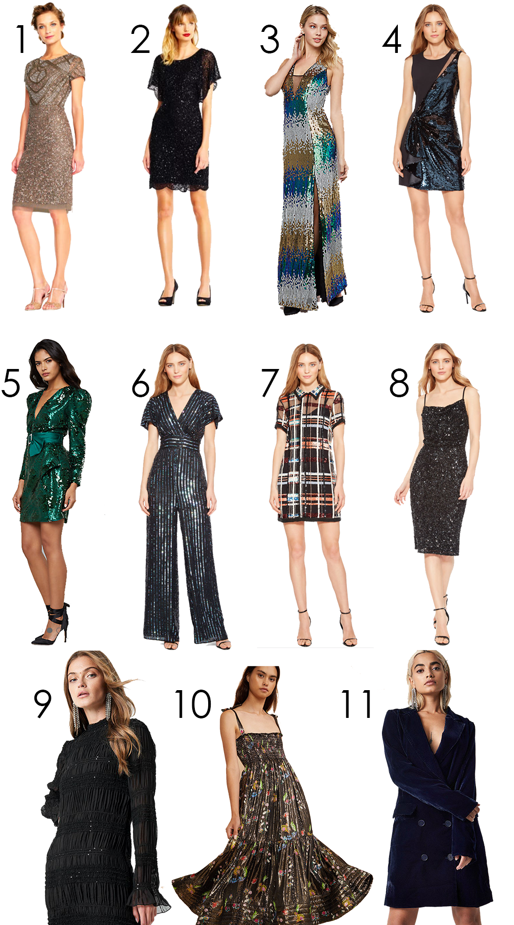 Glitzy Holiday Party Dresses for Christmas and New Year's Eve Parties I DreaminLace.com #HolidayParty #PartyDresses #CocktailDress