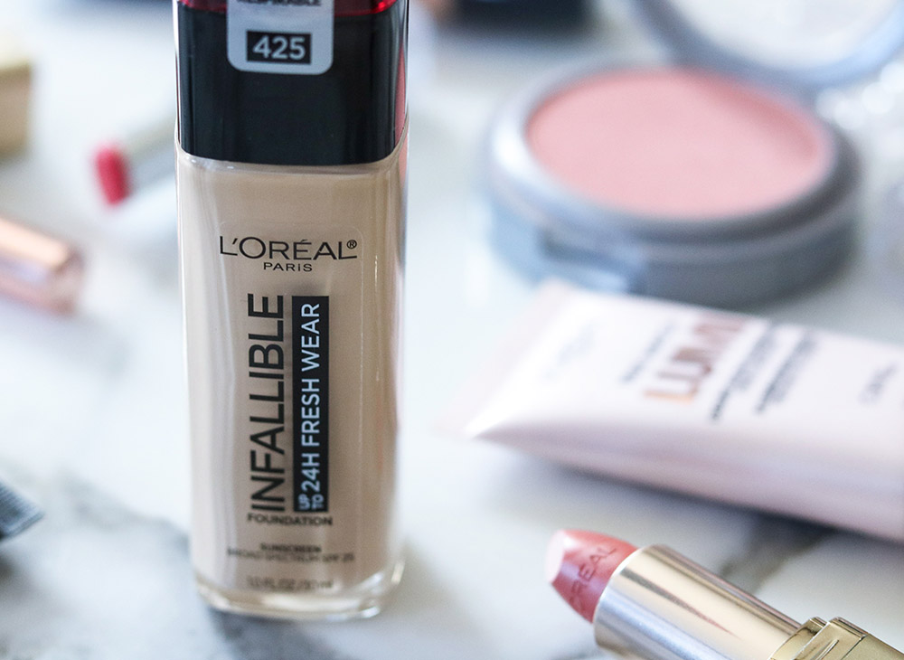 Loreal Infallible Fresh Wear Foundation Review I Best Drugstore Makeup #Loreal #DrugstoreMakeup #BeautyTips