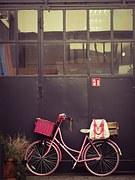 a pink bike