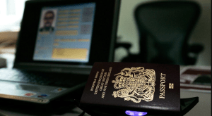 passport and laptop